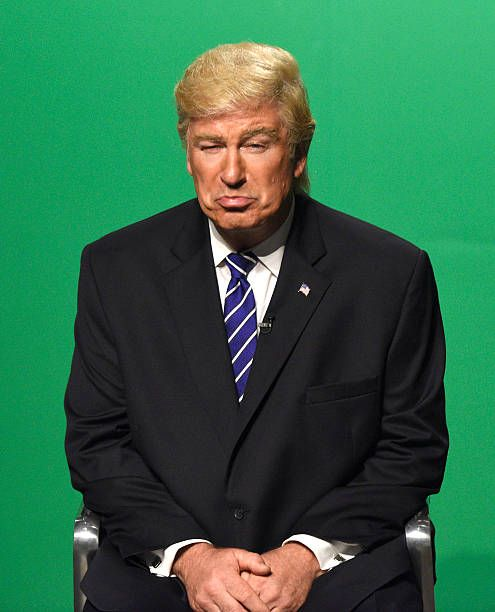 LIVE 'LinManuel Miranda' Episode 1706 Pictured Alec Baldwin as Republican Prudential Candidate Donald Trump during the 'VP Debate Cold Open' sketch...