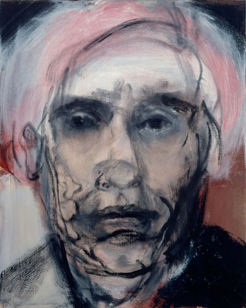 """Marlene Dumas A. Warhol. See through 2002 50 x 40 cm oil on canvas"""