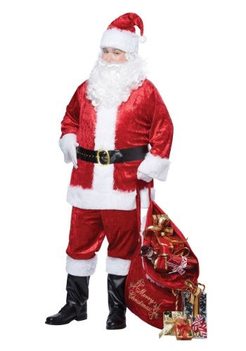 Deliver some Christmas cheer in this Plus Size Classic Santa Suit. It will allow you to make a merry entrance at any gathering.