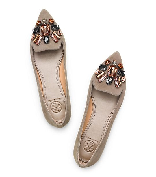 Tory Burch Mayada Suede Smoking Slipper : Women's Flats | Tory Burch