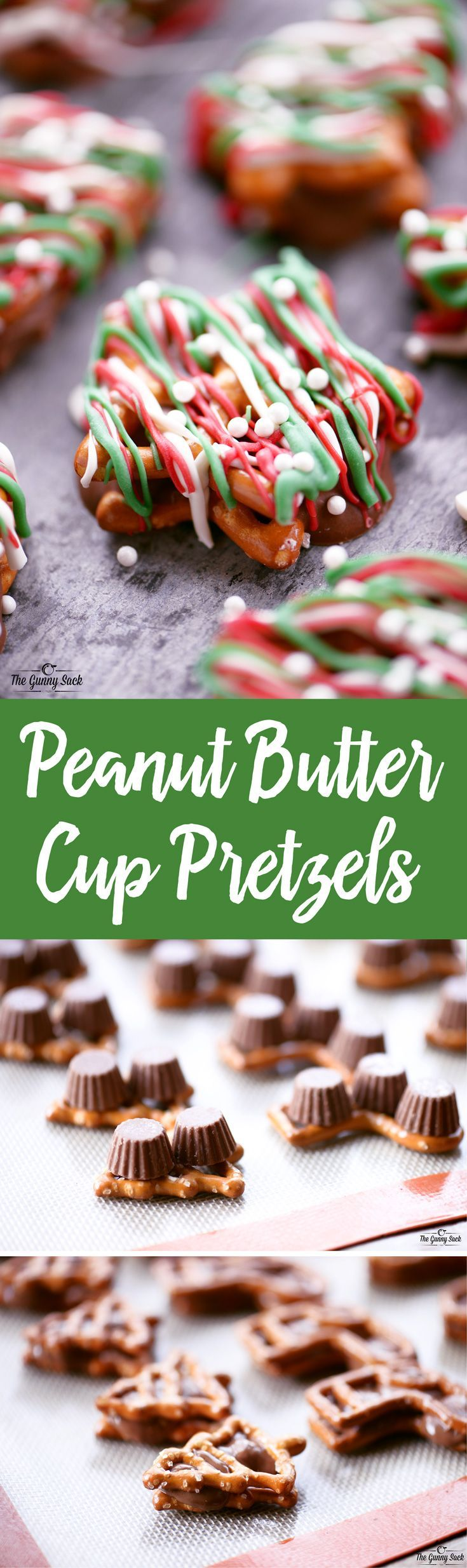 Peanut Butter Cup Pretzels are so easy to make for Christmas and they look festive too! Try them for your next holiday party!