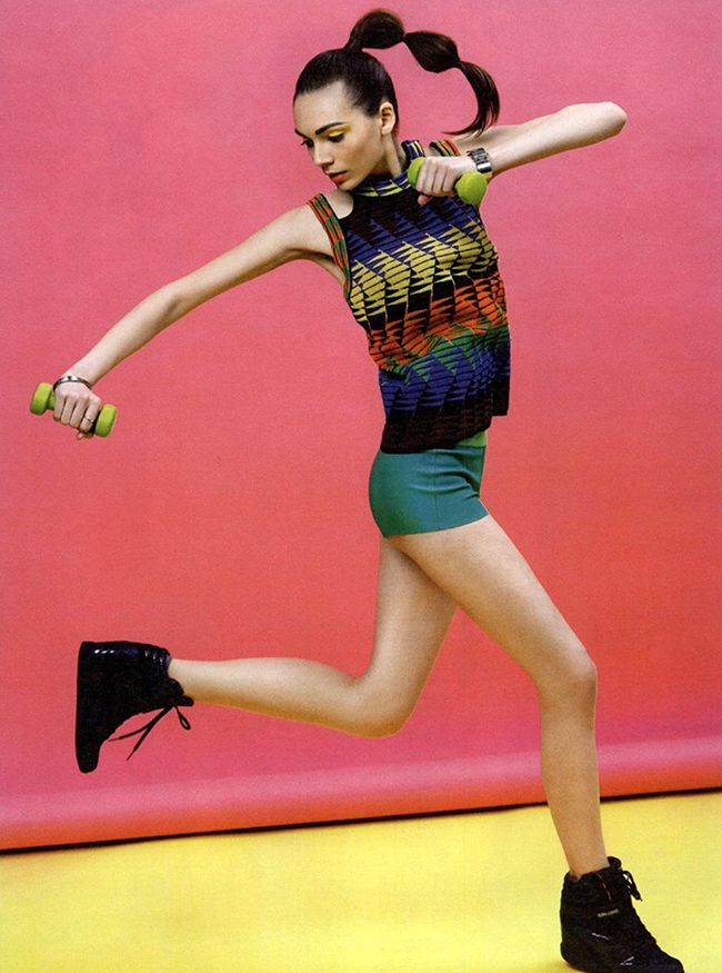 #MMissoni | tribal Zig zag knit top with a lively #tribaldesign of colored triangles | Summer 2014 Collection | @Cosmopolitan Russia
