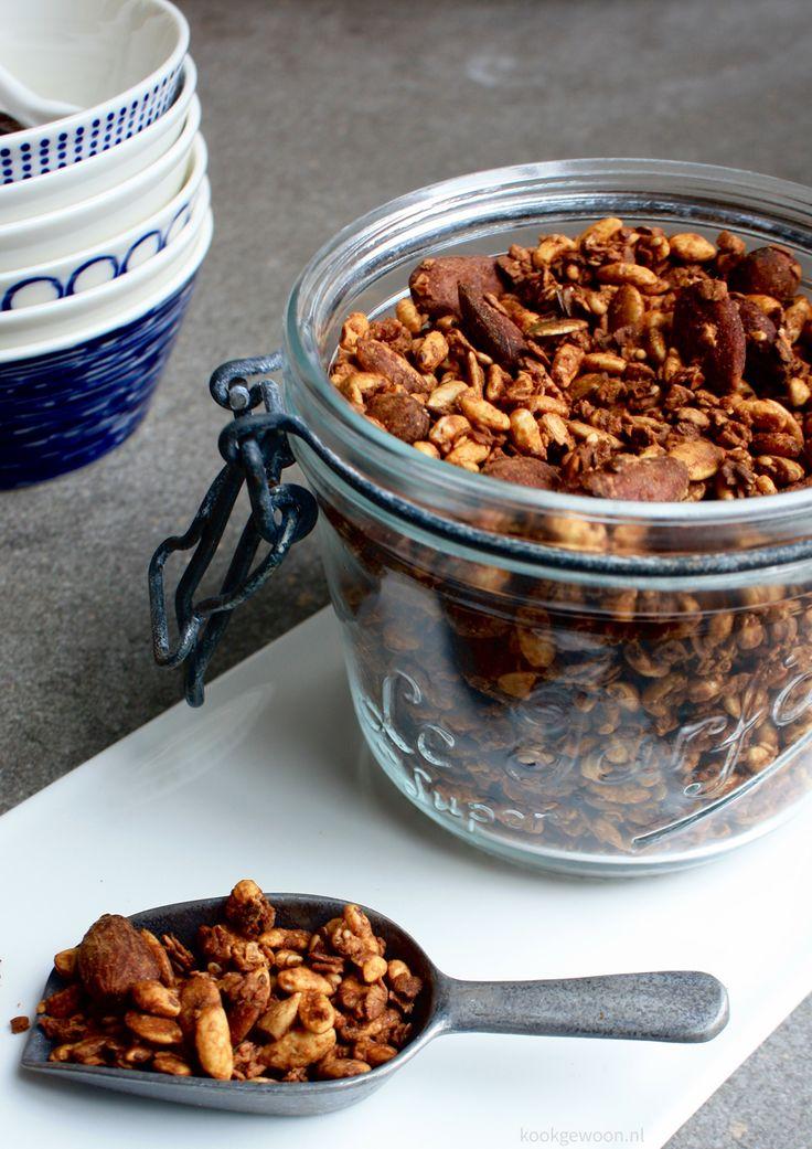 Zelf granola geroosterde muesli maken #recept #kookgewoon #foodblog #nederlandse #recepten
