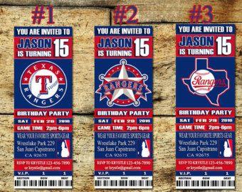 Toronto Blue Jays Birthday Invitation Baseball by SportfunDigital