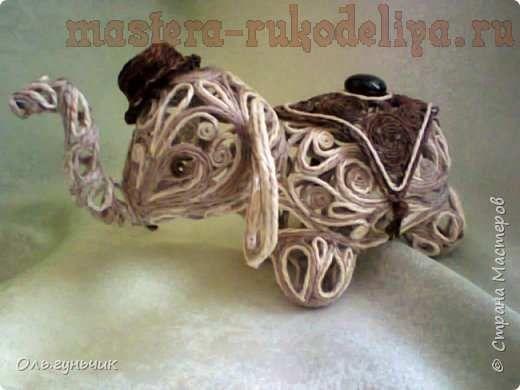 Мастер-класс по филиграни из джута: Слоненок Дамбо