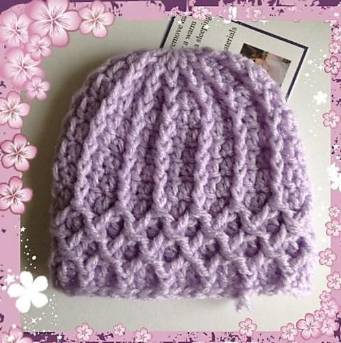 Ravelry: Lattice Preemie Hat pattern by Julee Reeves