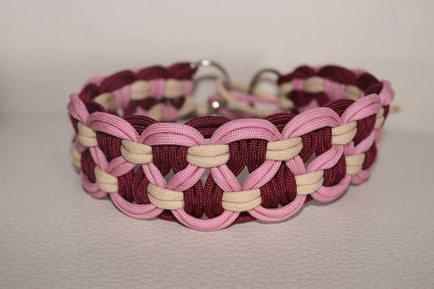 """Hund: Halsbänder - geflochtenes Halsband """"Swirls"""" - ein Designerstück von crazypets bei DaWanda"""