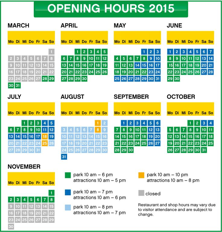 Opening hours - LEGOLAND® Deutschland Resort