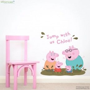45 best peppa pig bedroom images on pinterest kid bedrooms peppa our official peppa pig wall stickers are perfect for creating a peppa pig themed bedroom or playroom aloadofball Image collections