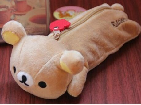 Plush toy 1pc 20cm cartoon Rilakkuma bear zero case little stationery students pencil bag stuffed toy creative gift for baby //Price: $US $9.39 & FREE Shipping //     #toyz24