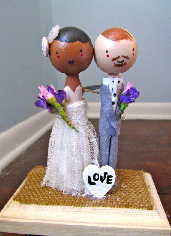 MeltingPotLove Custom Wedding Cake Topper by MeltingPotLove, $80.00