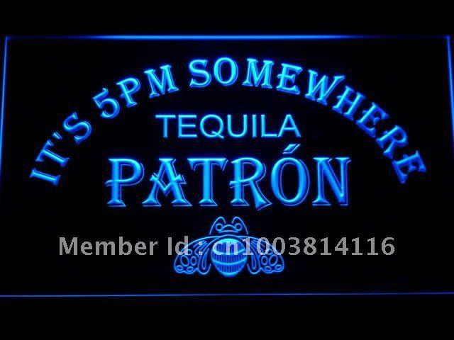 It 476 b 5 pm algures patrono tequila sinal de néon atacado dropshipping