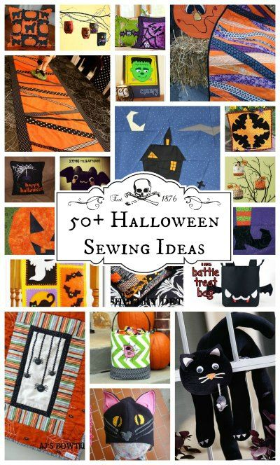More than 50 Halloween sewing ideas for projects of all sorts.