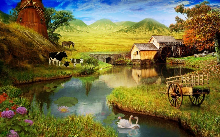 Old Windmill In Fall Grass Wallpaper 53 Best Charming Village Scenes Images On Pinterest