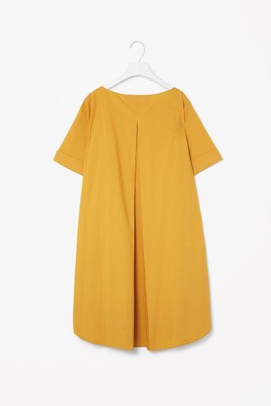 Cotton back pleat dress