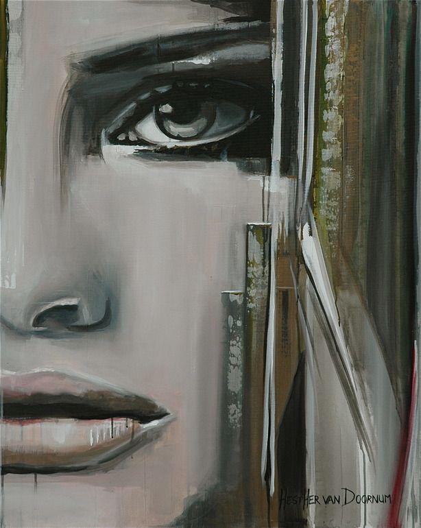 """Saatchi Art Artist: Hesther Van Doornum; Acrylic 2010 Painting """"My side"""""""