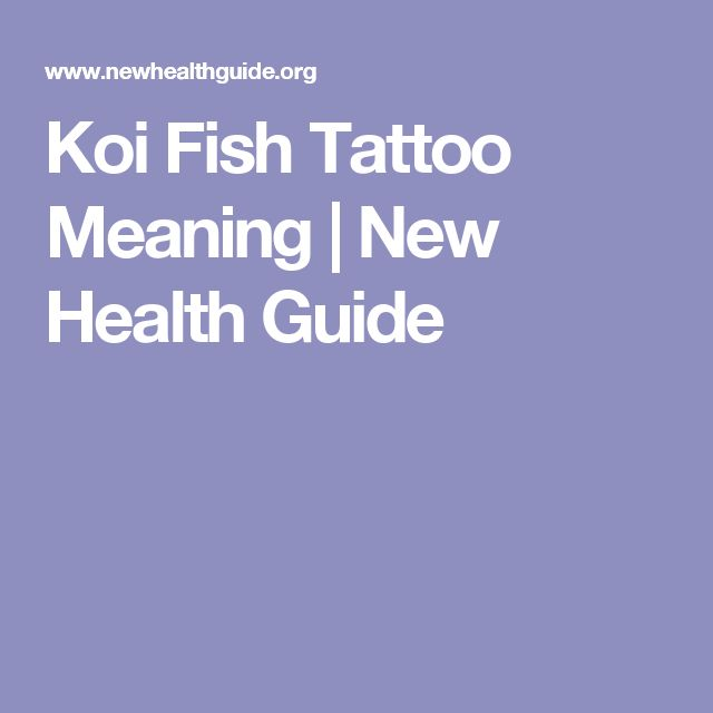 Koi Fish Tattoo Meaning   New Health Guide