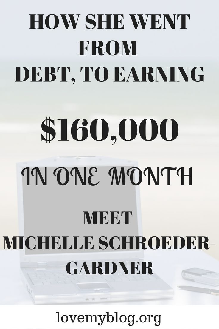 Michelle Schroeder-Gardner, an amazing young woman shares how she now makes a six figure income each month blogging. This is worth a read.