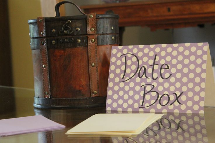 For an engagement party or couples shower: Have each guest write down one date that cost money and one free date. Put them in a cute box and then the couple has ideas for their first year of marraige!