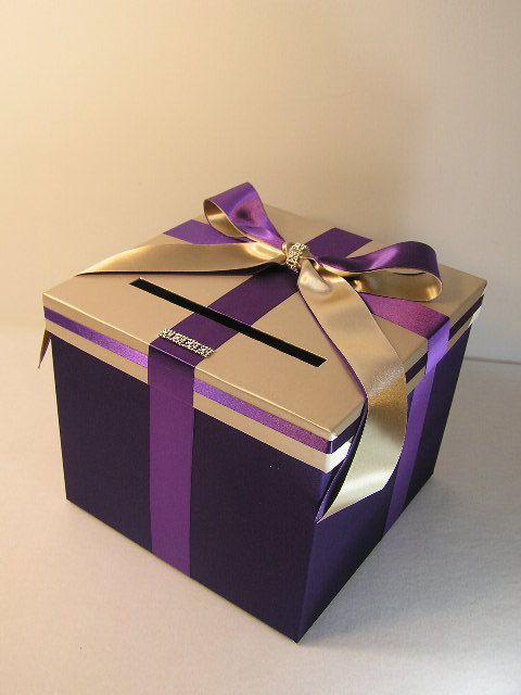 Purple Wedding Gift Card Box : purple Wedding Card Box Gift Card Box by bwithustudio, USD60.00: Gift ...