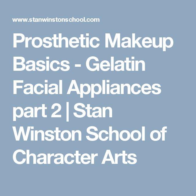 Prosthetic Makeup Basics - Gelatin Facial Appliances part 2 | Stan Winston School of Character Arts