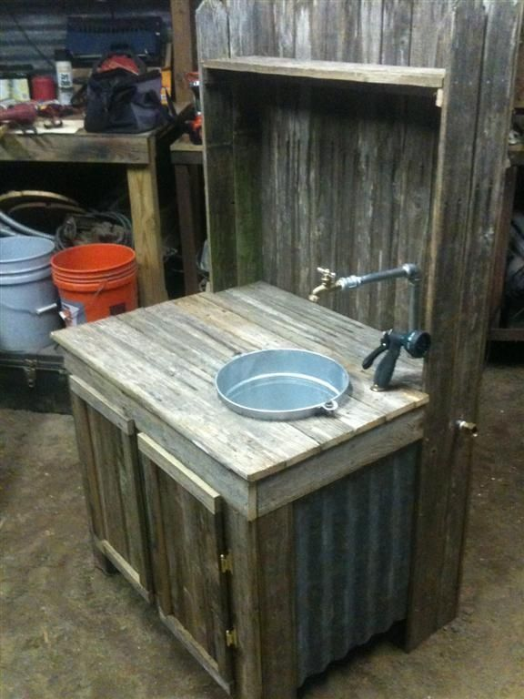 garden work bench with undermount sink - Google Search