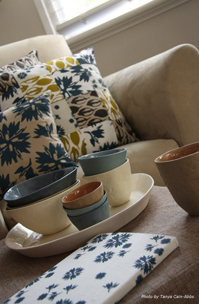 Eucalypt Homewares ceramics and Old Grey House textiles