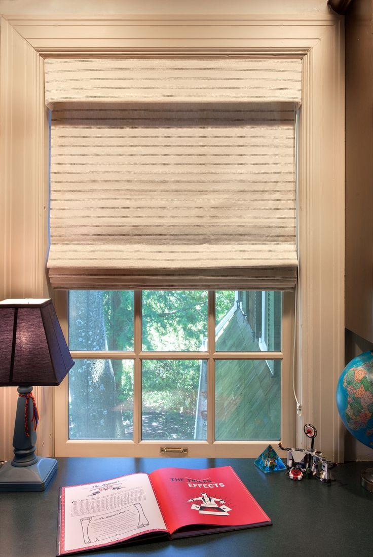 Hospitality and hotel window treatments sheer shades solar screen - Custom Straight Roman Shade With Skirted Bottom And Valance Fabric By Stout