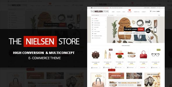 Nielsen is a truly user-oriented e-commerce theme, with a multiconcept layout and a lot of advanced features to enhance your shop.