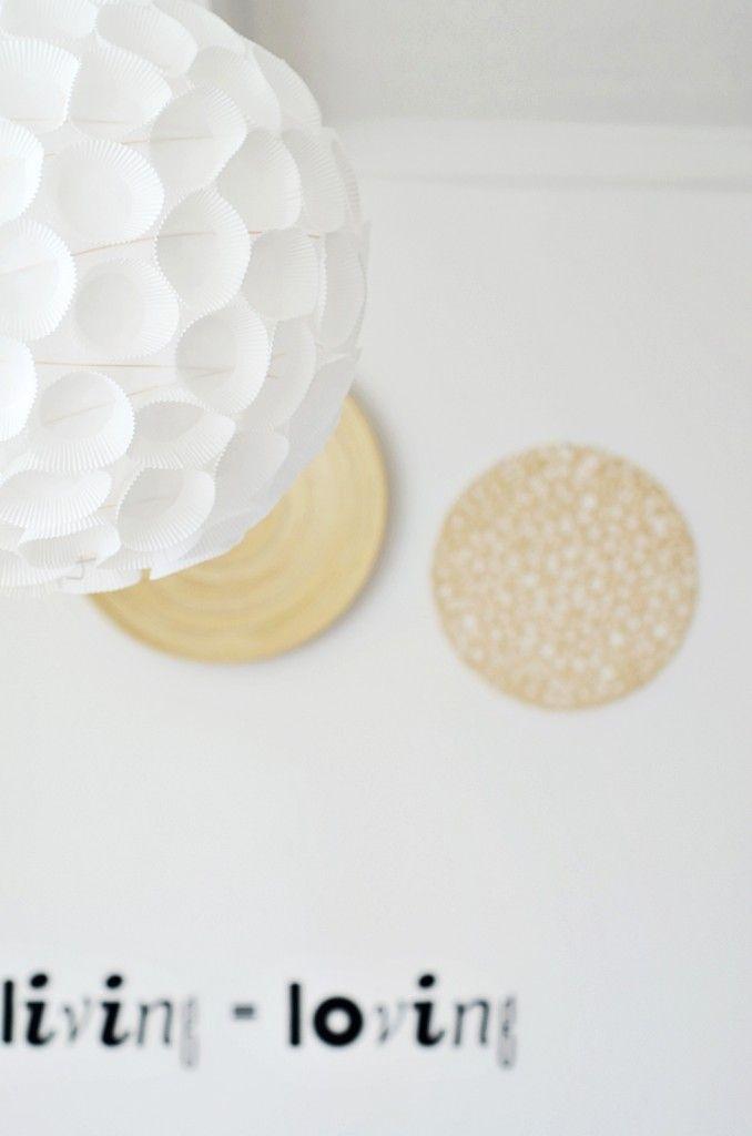 lampadario con cartine per pasticcini