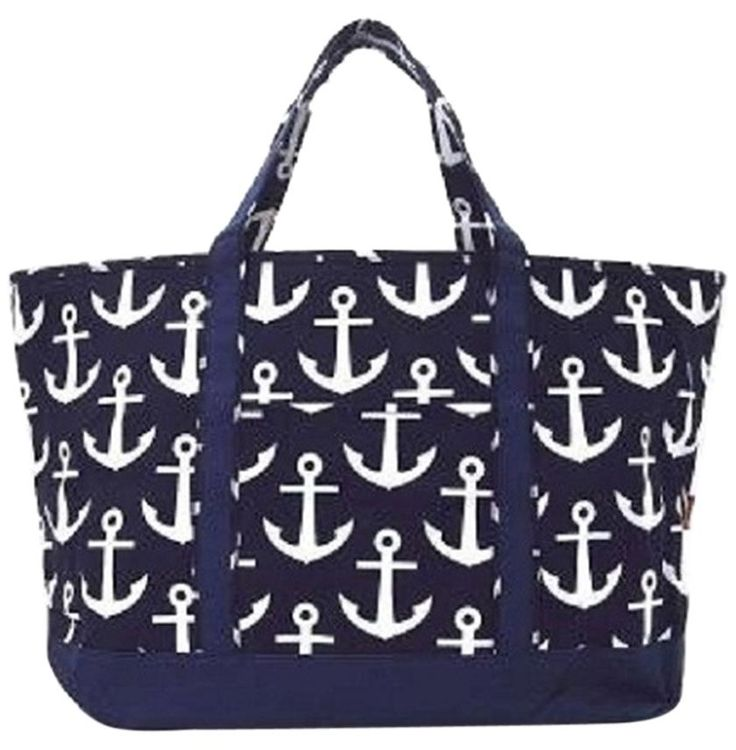 Nautical Anchor Print Large Canvas Blue And White Tote Bag. Get one of the hottest styles of the season! The Nautical Anchor Print Large Canvas Blue And White Tote Bag is a top 10 member favorite on Tradesy. Save on yours before they're sold out!