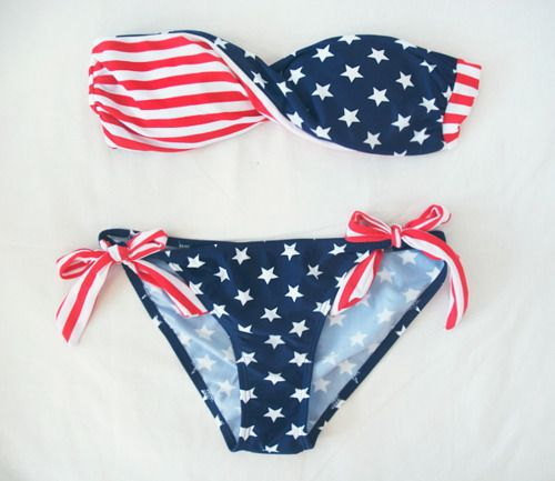 4th of july..: Fashion, American Flags, Style, Fourth Of July, Swimsuits, Stars, Bikinis, 4Th Of July, Bath Suits