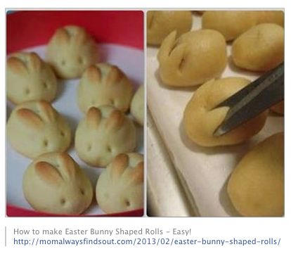 Cute Easter Bunny Rolls :)