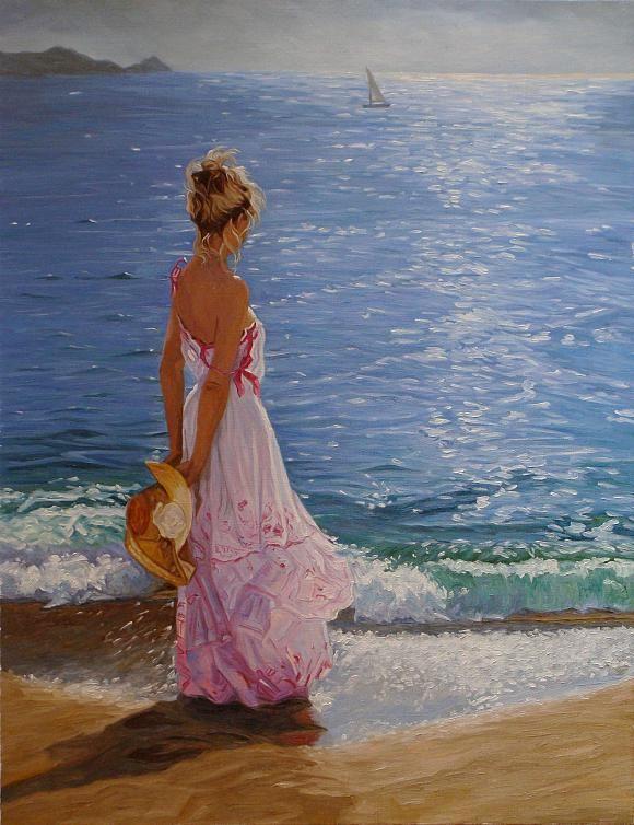 Девушка у моря. По мотивам V. R., автор Andrey. Артклуб Gallerix
