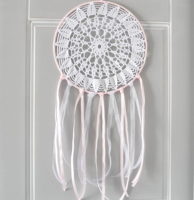 attrape r ves dreamcatcher capteur de r ve 25 cm de diam tre napperon au crochet th me. Black Bedroom Furniture Sets. Home Design Ideas