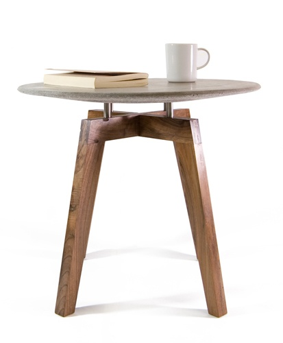 Armando coffee table, CLOSE TO EXTINCTION SERIES (moulded Concrete top + 70 years aged solid Walnut base,  completely handmade) from Pastina Italian Goodies -- Now available on http://www.buru-buru.com/