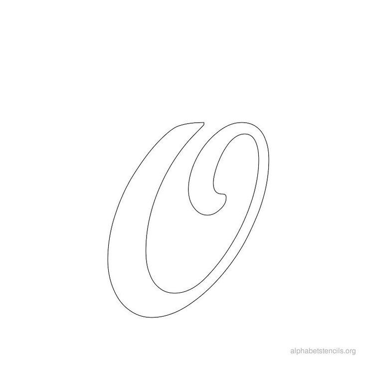 Print Free Alphabet Stencils Cursive O | Alphabet stencils ...