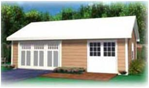 Instant Download DIY Workshop Plans:  Build the perfect workshop, hobby shop, office, storage building or studio for your backyard with easy-to-use, instant download building plans. These practical, attractive buildings are available in four different sizes: 16'x24', 16'x30', 20'x20' and 20'x24'.