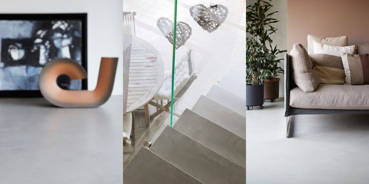 Atmosfere e colori caldi, effetti materici e vellutati, per una casa accogliente e avvolgente. Con #Microtopping. #concrete #interiordesign