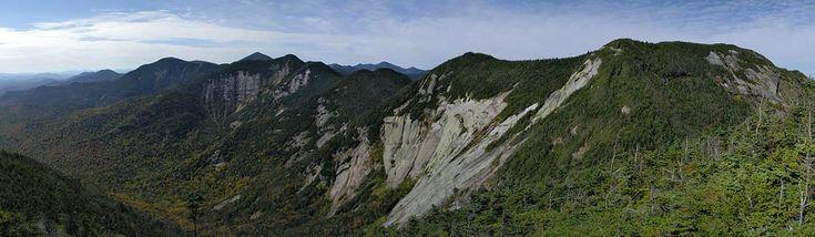 High Peaks Panorama: Haystack, Basin, Saddleback & Gothics from Pyramid, Courtesy of ADK Hikes