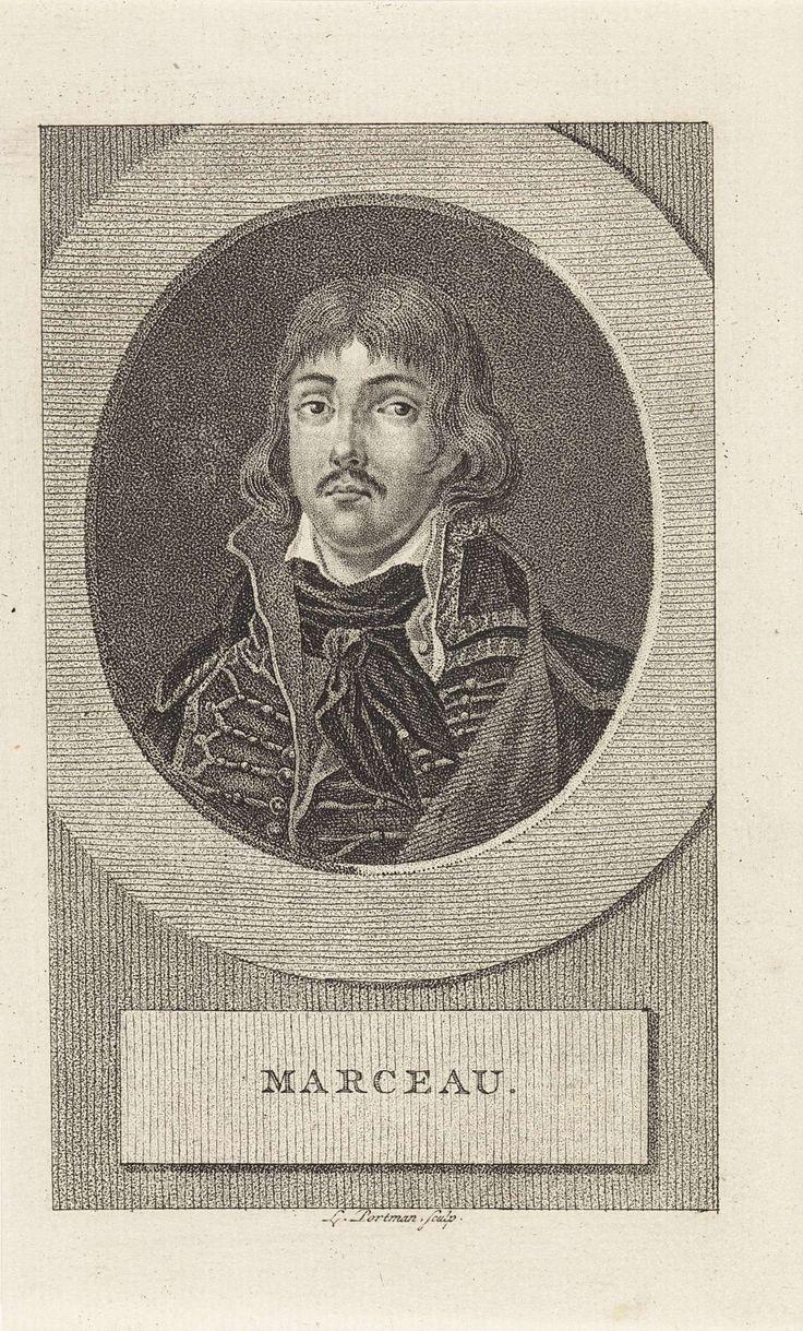 Ludwig Gottlieb Portman | Portret van de Franse generaal François Séverin Marceau-Desgraviers, Ludwig Gottlieb Portman, 1806 |