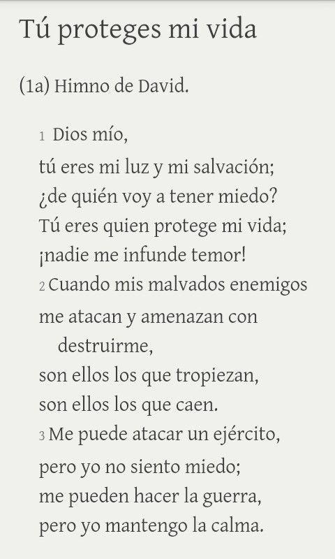 Salmo 27: 1 - 3 TLA