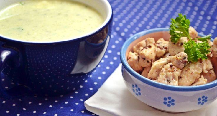 Tejszínes cukkinikrémleves recept csirkekockákkal | APRÓSÉF.HU - receptek képekkel