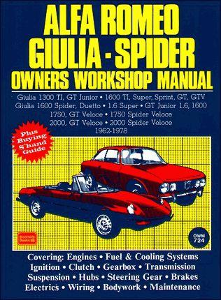 #AlfaRomeo Giulia, Spider Repair & Service Manual 1962-1978
