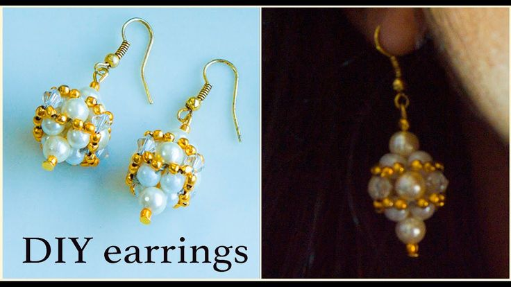 How to make pearl earrings | DIY pearl earrings| make pearl bridal earrings
