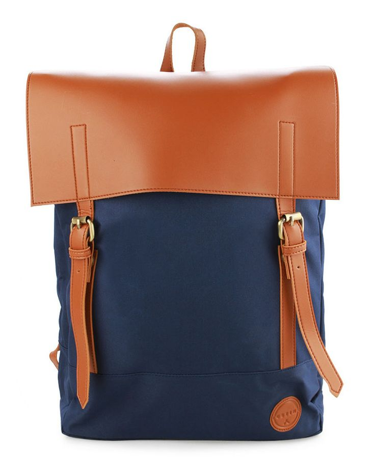 Barend Bags by Justine. Enhance everyday look with Justine collection. Barend Bags, Backpack with dual strap with buckle accents and a choice of attractive colors. So rad! Using nylon and polyester as materials with blue color. The bag has main compartment with details magnetic buttons also laptop sleeve. Top carry handle with adjustable strap   http://www.zocko.com/z/JJRlL