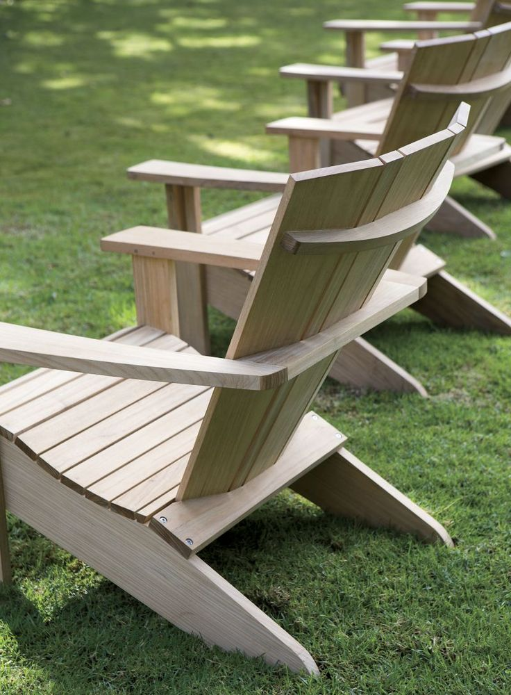 Vista Adirondack Chair | Crate and Barrel | Outdoor chairs ...