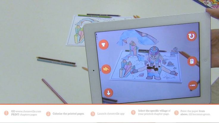 How to use Chromville app - Augmented Reality for kids