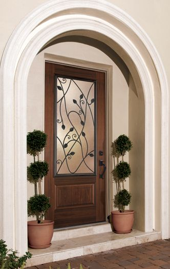 Belleville hollister with avantguard black walnut finish for Belleville fiberglass doors