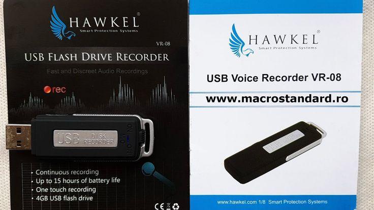 Reportofon disimulat in Stick de Memorie USB Hawkel VR-08